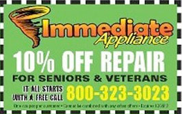 Image Of Coupon Available For Appliance Repair In New Jersey - Immediate Appliance Repair