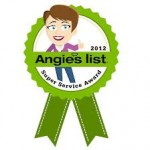 Immediate Appliance is thrilled to have won a Super Service Award from Angie's List for 2012
